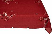 Eurofirany Tischdecke Weihnachten Rot 85x85