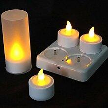EuroFone LED Kerzen Kunststoff Wiederaufladbare