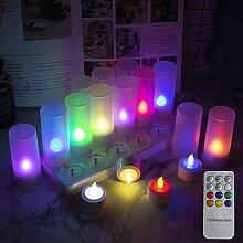 EuroFone LED Tea Light Candles Rechargeable