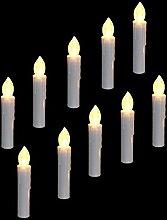EuroFone LED Weihnachtskerzen Flammenlose Kerze