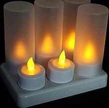 EuroFone Wiederaufladbare LED Kerze Teelichter