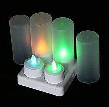 EuroFone wiederaufladbare LED Kerzen Flackern