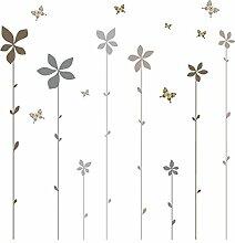 Eurographics Aufkleber Flowers of Summer, Braun,