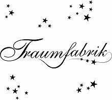 Eurographics Aufkleber Traumfabrik, schwarz, 50x