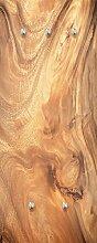 Eurographics G-DT60061 Wooden Texture Garderobe, Glas, braun, 125 x 50 x 3,5 cm