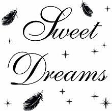 Eurographics Sweet Dreams in Heaven Aufkleber, Schwarz, 50x 70cm