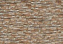 Eurographics Wand der Steine Tapete, braun, 254x 366cm