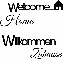 Eurographics Welcome Home I Aufkleber, Schwarz, 50x 70cm