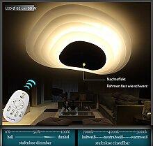 Eurohandisplay LED Deckenleuchte 2125 Ø 62 cm 30 W inkl. Fernbedienung Lichtfarbe/Helligkeit einstellbar Acryl-Schirm, weiß lackierter Metallrahmen LED Wohnzimmerleuchte Kronleuchte Pendelleuchte DeckenlampeDeckenstrahler LED Deckenleuchte Hängeleuchte Hängelampe LED lampe LED Leuchte Beleuchtung Einbauleuchte Wandleuchte Spot Lüster