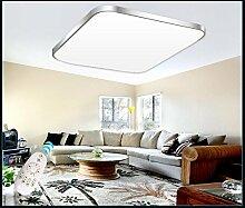 Eurohandisplay LED Deckenleuchte 6088-53x53cm Rahmen silber Fernbedienung Lichtfarbe/Helligkeit einstellbar (6088-53x53cm silber Rahmen)