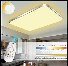 Eurohandisplay LED Deckenleuchte 6088-65x43cm Rahmen silber Fernbedienung Lichtfarbe/Helligkeit einstellbar (6088-65x43cm silber Rahmen)