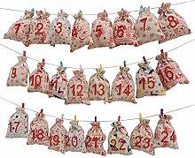 Eurohome 24 Adventskalender Tüten Zum