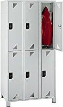 EUROKRAFT Garderobenschrank, Abteilhöhe 850 mm -