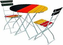 EuroLiving Gartengarnitur Deutschland Set,