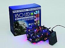 Euronatale LED Mini-Lichterkette 180Lichter Weihnachtsbaumschmuck mit Motor für Außen (mehrfarbig)