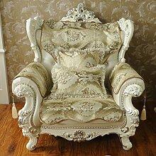 Europ?ische schonbezug sofa,Anti-rutsch-sofa hussen sofa abdeckungen für leder sofa sofa beschützer amerikanischen stil vier jahreszeiten tuch solide holz sofa handtuch-Gelb 80x240cm(31x94inch)