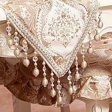 Europ?ische Tischl?ufer/Luxus-Stoff-Tabelle/Couchtisch Tisch L?ufer Matte/Anti-Rutsch minimalistischen Bett Schals/Stickerei Tischdecken-A 35x240cm(14x94inch)