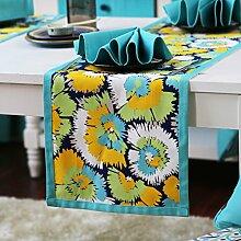 Europ?ische Tischl?ufer/Vermeiden Sie bügeln Baumwolle, Leinen Tischsets/Tetabellentuch/Bett-banner/Bett-Tücher-A 35x140cm(14x55inch)
