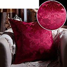 Europ?ischen Luxus Kissen/Luxus-Bett Kissen/Lendenkissen Sofabezug/Haltigen Kern Kissenbezug-E 50x50cm(20x20inch)VersionA