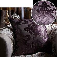 Europ?ischen Luxus Kissen/Luxus-Bett Kissen/Lendenkissen Sofabezug/Haltigen Kern Kissenbezug-C 50x50cm(20x20inch)VersionA