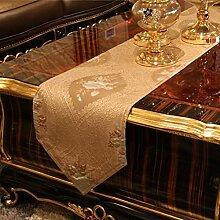 Europ?ischen Stil Couchtisch TV-St?nder Tisch bestickter Tischl?ufer/Isolierung-Tischsets-Tischdecken/Startseite Fabric-A Tischl?ufer:30x200cm(12x79inch)