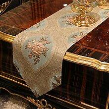 Europ?ischen Stil Couchtisch TV-St?nder Tisch bestickter Tischl?ufer/Isolierung-Tischsets-Tischdecken/Startseite Fabric-C 30x183cm(12x72inch)