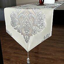 Europ?ischen Stil Luxus Tischl?ufer/Feine Jacquard Tischl?ufer Tisch/ischdecke / Tischdecken / Tischabdeckung/Kaffeetisch Flagge-A 34x220cm(13x87inch)