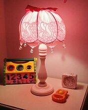 Europ?ischen stil nacht bett schlafzimmer niedlich kreative spitze mode prinzessin Koreanische kinder kleine tischlampe