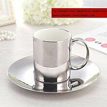 Europa Kaffeetasse Set Gold/Silber