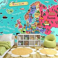 Europa Karte Wandbild Pädagogisch Foto-Tapete