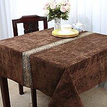 europäisch-amerikanischer garten tischtuch,klassisches modernes einfaches chinesisches tuch-V 140x140cm(55x55inch)