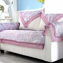 Europäisch Anmutende Sofa Handtuch Spitzen/Four Seasons Universal Stoff Sofa Handtuch/Moderne Minimalistische Slip Cover-A 95x150cm(37x59inch)
