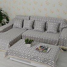 Europäisch Anmutende Sofa Handtuch/Volle Deckung Tuch Slip Sofa Cover-B 180x280cm(71x110inch)
