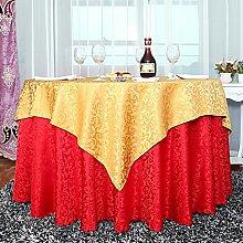Europäisch Anmutenden Bestickte Tischdecke,Polstermöbel Rechteckig Gerundet Couchtisch Tuch,Kunst Stoff Tisch Läufer Tischdecke-D Durchmesser180cm(71inch)