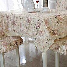 Europäisch Anmutenden Tischdecke Polster/Dining Chair Bezug Sessel Kit/Aus Baumwolle Und Leinen Tischdecken Runden Tisch/Längliche Tischdecke-I 130x130cm(51x51inch)