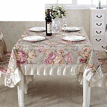Europäisch Anmutenden Tischdecke Polster/Dining Chair Bezug Sessel Kit/Aus Baumwolle Und Leinen Tischdecken Runden Tisch/Längliche Tischdecke-B 150x150cm(59x59inch)