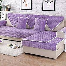Europäisch Flanell Einfach Anti-Schlupf Sofa