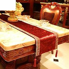Europäisch,luxus,gehobenen sie,velvet table flag/bett-runner/moderne,mode,einfache tischläufer-A 34x210cm(13x83inch)