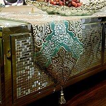 Europäisch,luxus,klassische tischdecke/zwei farben,velvet,bronz table flag/mode tischläufer und tuch-C 30x200cm(12x79inch)