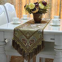 Europäisch luxus silk günstige blume table flag tee tischläufer bett-runner veranda tischläufer serviette zum dinner mat-D 33x200cm(13x79inch)