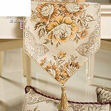 Europäisch luxus-tischläufer klasse stoff westlichen tischdecke mode coffee table runner bett-runner-A 30x150cm(12x59inch)