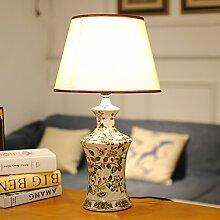 Europäisch,Retro,Ländlichen,Bemalte Keramik,Living Room,Dekorative Tischleuchten/Amerikanischen,Schlafzimmer Bett Lampe-B