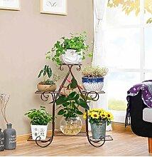 Europäisch - Stil mehrstöckige grüne Rettich Rhododendron multifunktionale Massivholz Blume Regal Balkon Wohnzimmer Innenboden Töpfe ( Farbe : Bronze , größe : 83*23*80cm )