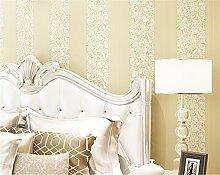 Europäische–Style Drei–dimensionale Relief Haarverdichtung–Gewebtes Tapete gestreift Shu Wen Tapete Wohnzimmer Schlafzimmer Hintergrund Tapete Rolle 0,53m (52,8cm) * 10Mio. (32,8') = 5,3& # x33a1M; (M³), beige