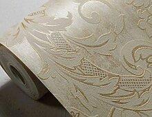 Europäische 3D Geprägte Goldfolie Tapete Vliestapete Im Wohnzimmer Kulisse Schlafzimmer,Yellow