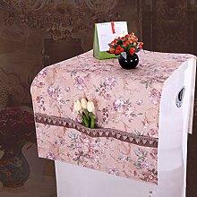 Europäische Abdeckung Handtuch Kühlschrank Staub Abdeckung Haushalt Tischdecke,Pink-60*160CM