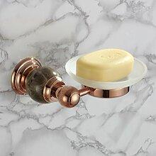 Europäische all-Kupfer vergoldet Seifenschale/Bad-Accessoires Seifenregal/Seifenkiste-E