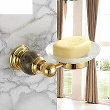 Europäische all-Kupfer vergoldet Seifenschale/Bad-Accessoires Seifenregal/Seifenkiste-B