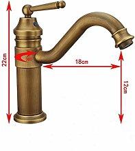 Europäische alle Kupfer antik Wasserhahn warmes