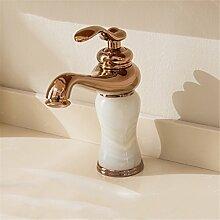 Europäische alle Kupfer Wasserhahn antiken fließendem heißen und kalten Wasserhahn Wasserhahn Marmor Waschbecken Wasserhahn, Badezimmer Armatur